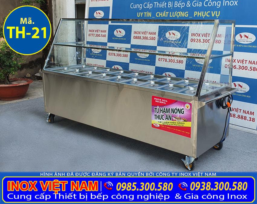 Báo giá tủ giữ nóng thức ăn 18 khay TH-21.
