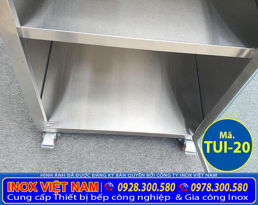 Hộc tủ chén inox có chứa đồ TUI-19.