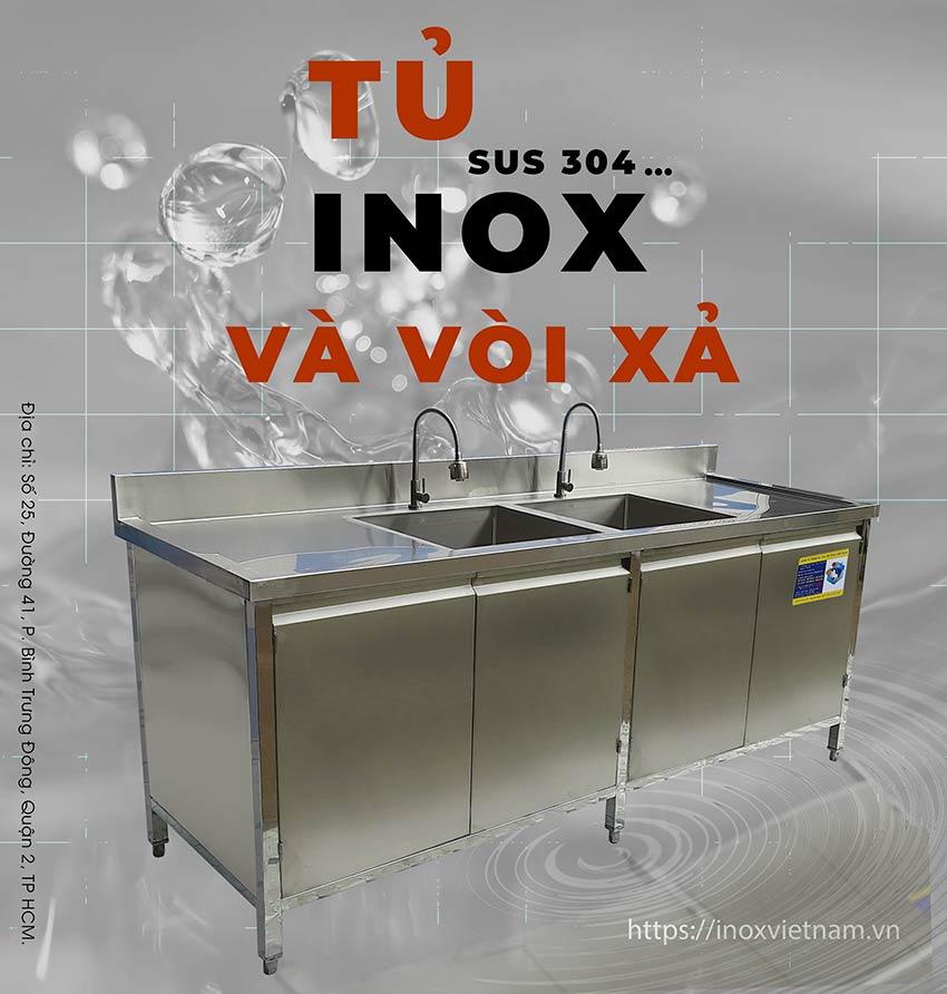Báo giá tủ bếp inox công nghiệp