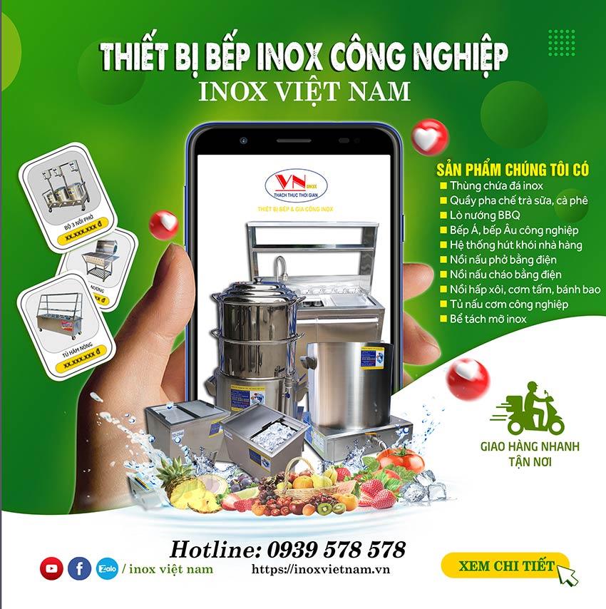 Inox Việt Nam - chuyên cung cấp các thiết bị bếp inox công nghiệp, thiết bị bếp nhà hàng khách sạn, thiết bị quầy bar & cafe chuyên nghiệp nhất hiện nay.
