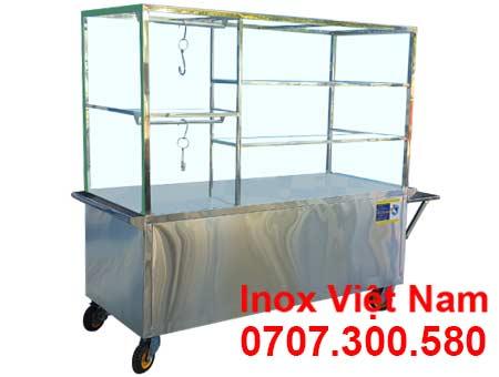 Xe bán hủ tiếu inox XBP-03.