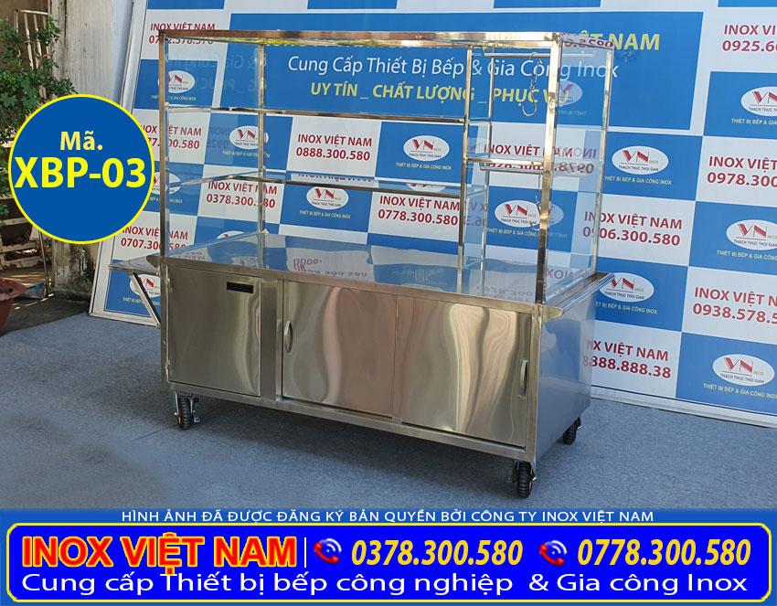 Báo giá xe bán phở inox của Inox Việt Nam.