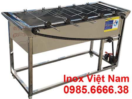 Bếp nướng than inox 5 xiên tự động quay LN-11.