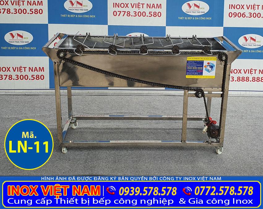 Bếp nướng than nướng than inox 5 xiên tự động quay LN-11 giá bao nhiêu?