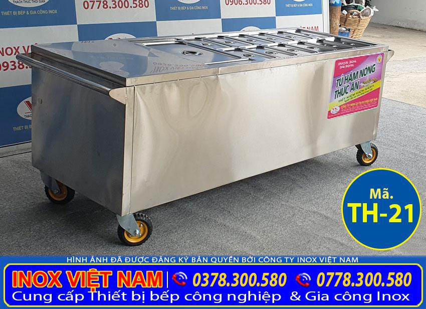 Quầy hâm nóng thức ăn 13 khay TH-22, mẫu tủ hâm nóng thức ăn bán chạy nhất hiện nay.