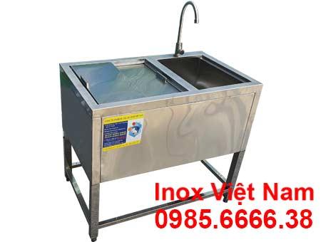 Thùng Đá Inox Khung Chân Có Bồn Rửa TD-C1058