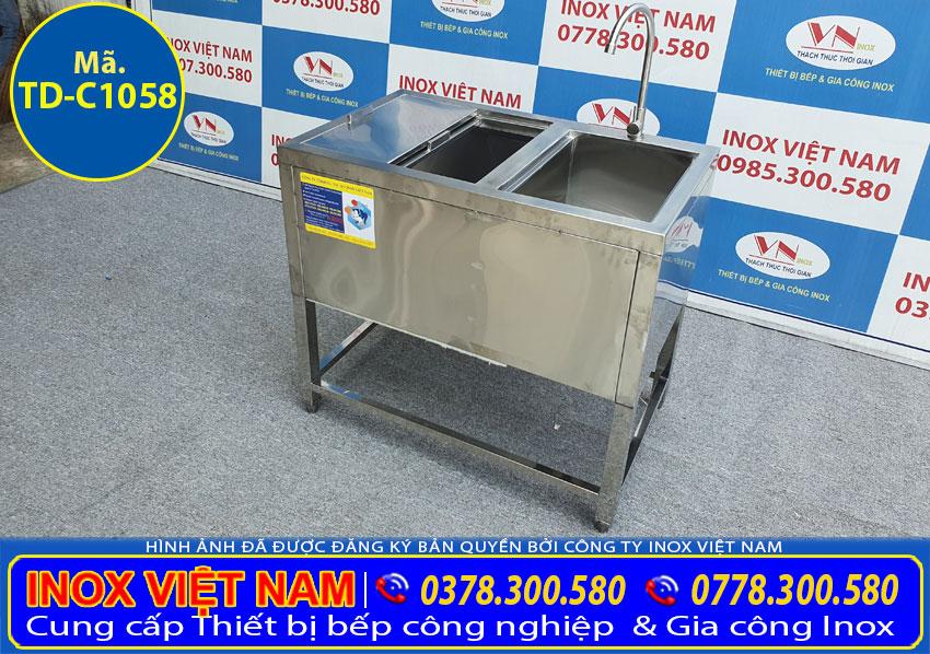 Mua thùng đá inox có chân kèm chậu rửa, thùng đựng đá inox giữ nhiệt giá tốt chính hãng chất lượng ở đâu?