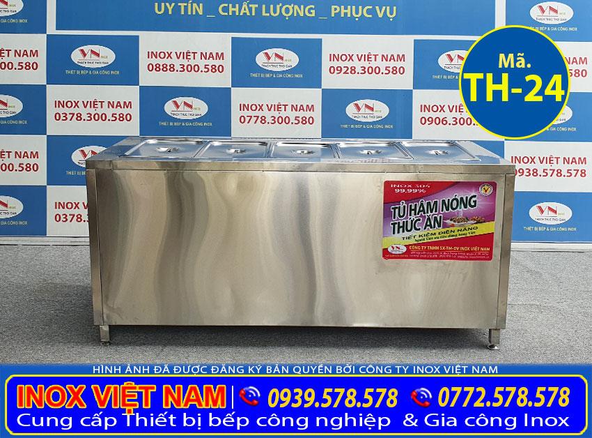 Báo giá tủ giữ nóng thức ăn 5 khay TH-24.