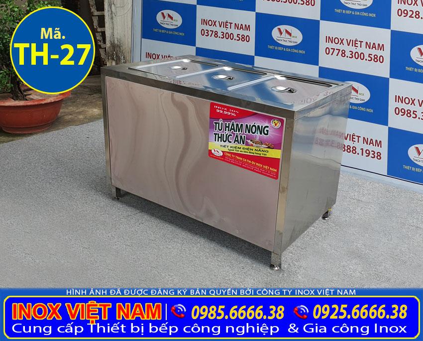 Báo giá tủ giữ nóng thức ăn công nghiệp 3 khay.