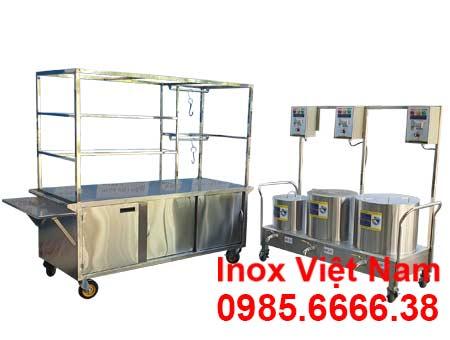 Xe Bán Hủ Tiếu Phở Inox XBP-06